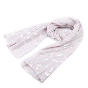 New beautiful metallic feather scarf
